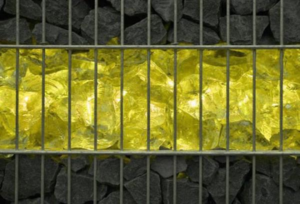 Gabionen LED Beleuchtung - 360° Abstrahlwinkel - gelb