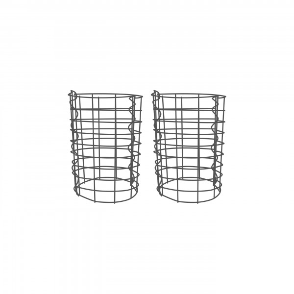 Gabionensäule 2er Set Rund Zink-Aluminium 33 Ø cm - verschiedene höhen - Maschenweite 5x10