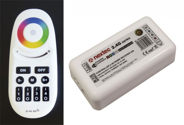 LED Controller RGB+W Radio-Frequenz Touch mit Fernbedienung