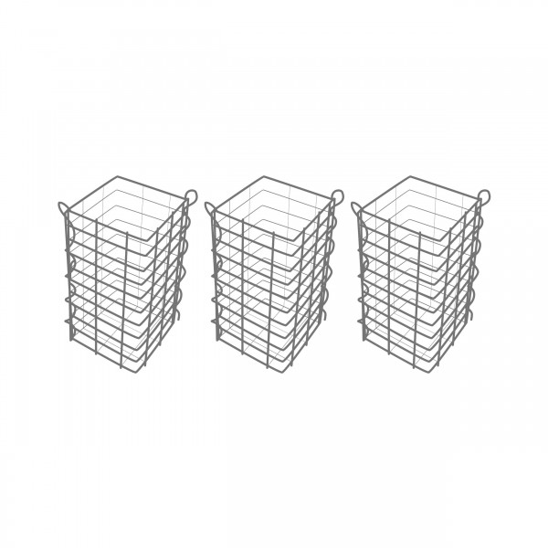 Gabionensäule 3er Set Eckig Zink-Aluminium 25 x 25 cm - verschiedene höhen - Maschenweite 5x10