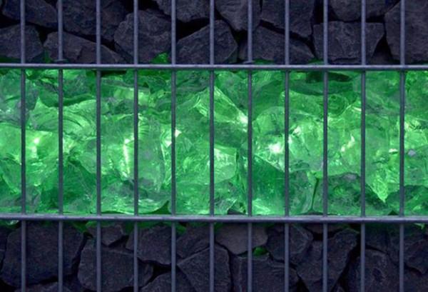 Gabionen LED Beleuchtung - 360° Abstrahlwinkel - grün