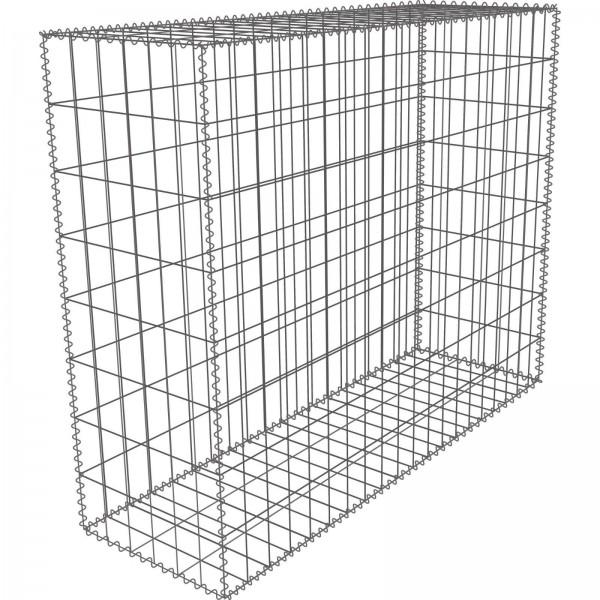 Gabione Zink-Aluminium 100 x 80 x 30 cm - Maschenweite 5x10