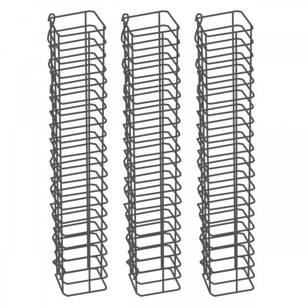 Gabionensäule 3er Set Eckig Zink-Aluminium 12,5 x 12,5 cm - 100 cm hoch - Maschenweite 5x10