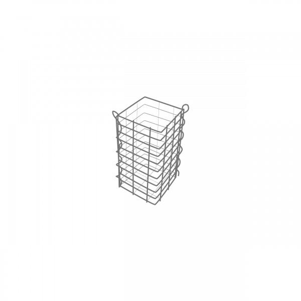 Gabione Eckig Zink-Aluminium verschiedene Höhen - Maschenweite 5x10 cm