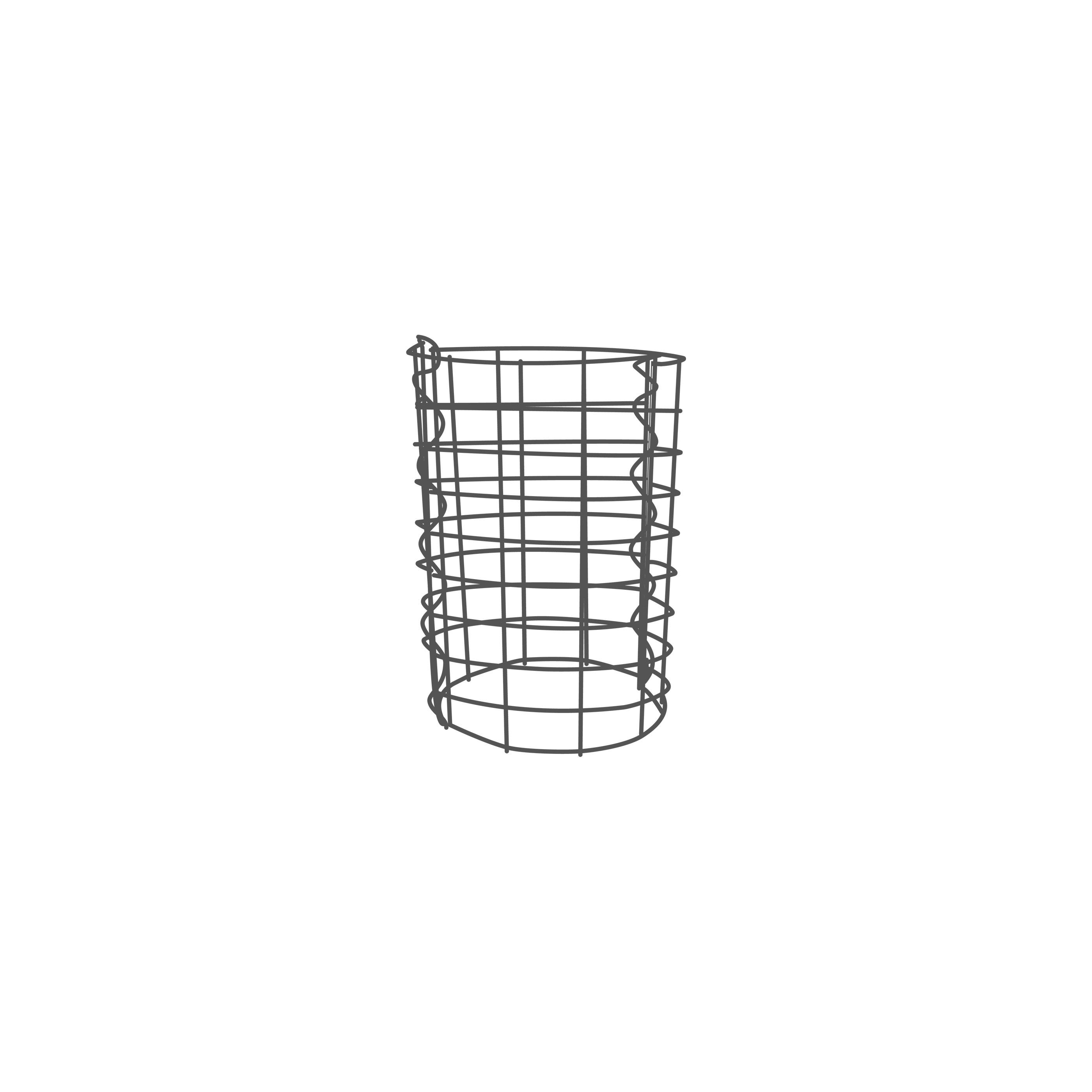 gabione rund zink aluminium verschiedene h hen maschenweite 5x10 cm gabionens ulen. Black Bedroom Furniture Sets. Home Design Ideas