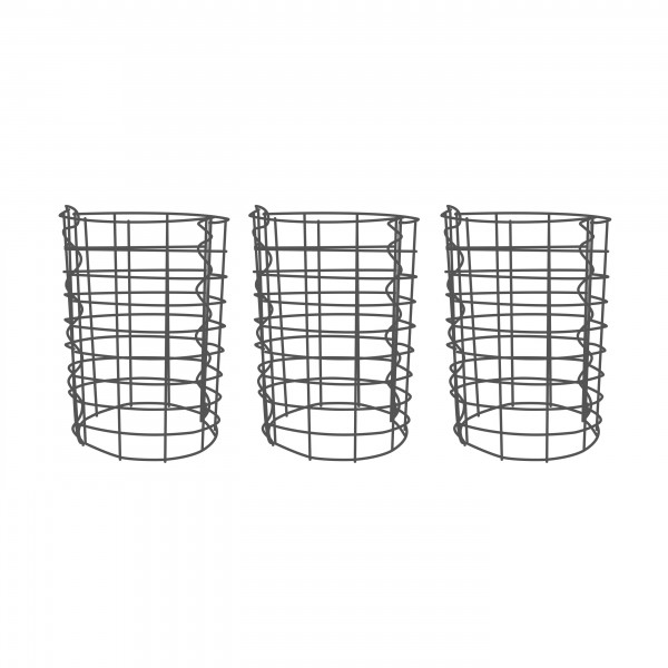 Gabionensäule 3er Set Rund Zink-Aluminium 33 Ø cm - verschiedene höhen - Maschenweite 5x10