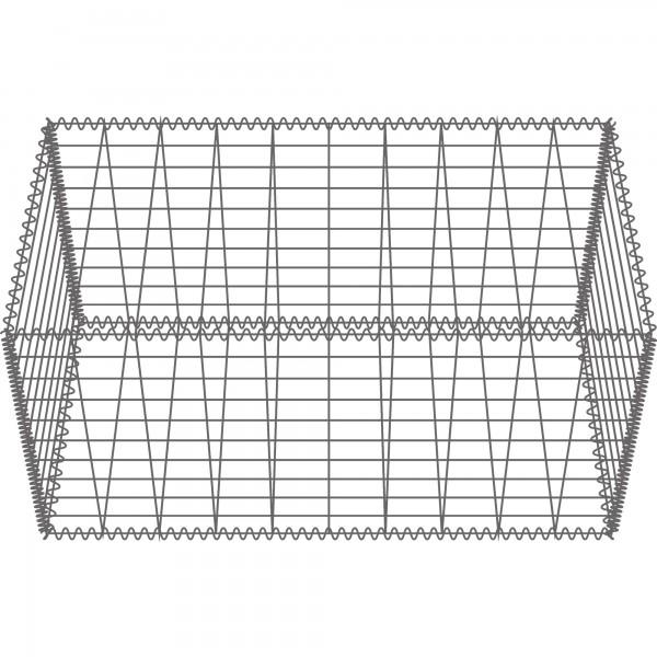 Gabione Zink-Aluminium 100 x 50 x 10-50 cm - Maschenweite 5x10