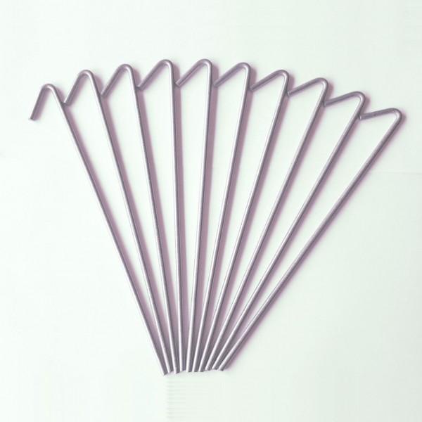 10x Heringe 20 cm - Zeltheringe - Erdnägel -Zeltnagel - Metall verzinkt