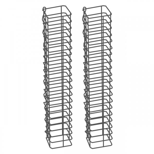 Gabionensäule 2er Set Eckig Zink-Aluminium 12,5 x 12,5 cm - 100 cm hoch - Maschenweite 5x10