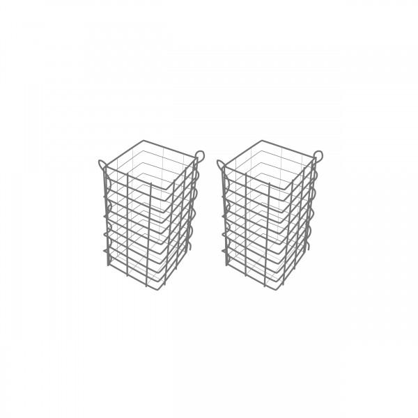 Gabionensäule 2er Set Eckig Zink-Aluminium 25 x 25 cm - verschiedene höhen - Maschenweite 5x10
